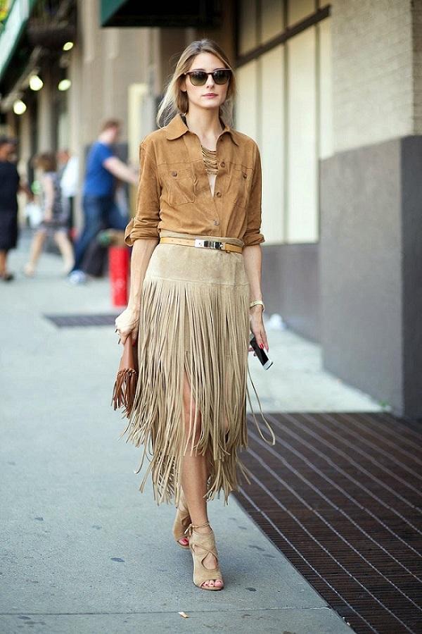 trending-now-suede-lead-street style-modelos de saias-saia com franjas-saia-saia de franja-roupas femininas